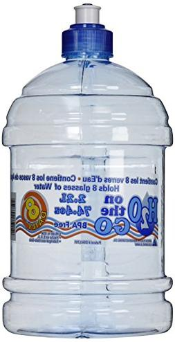 Arrow Plastic 00750 2.2 Liter H2O On The Go Water Bottle