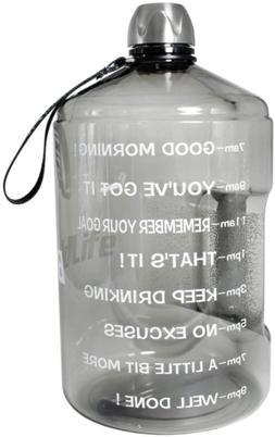 BuildLife 1 Gallon Water Bottle Motivational Fitness Workout