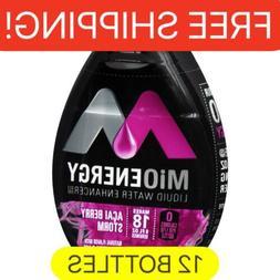 12 Bottles MIO energy ACAI BERRY STORM liquid Water Enhancer