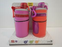 Bubba 16oz Kids Girls Boys Pink Purple Water Bottle Pack Of