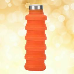 1pc Collapsible Folding Silicone Telescopic Water Bottle for