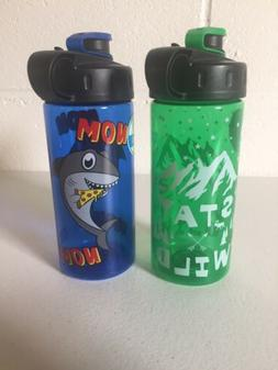 "2 New Cool Gear 16 Oz BPA Free Water Bottles ""Stay Wild"""