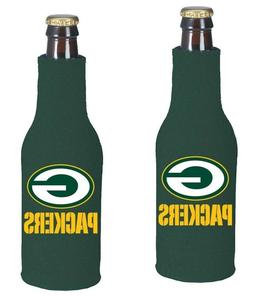 2 NFL Green Bay Packers 12 OZ Longneck Bottle Suit Holder Zi