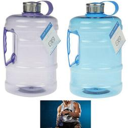 2 Pc Sports Bottles 2 Liter Water Drinking Plastic Canister