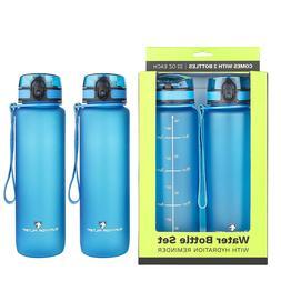 Survivor Sports Water Bottles  - 2 Bottle Set  with Leakpr