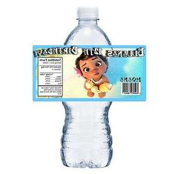20 BABY MOANA PERSONALIZED BIRTHDAY PARTY FAVORS WATER BOTTL
