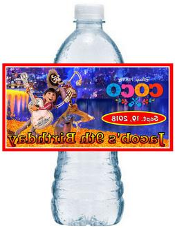 20 DISNEY COCO BIRTHDAY PARTY FAVORS WATER BOTTLE LABELS ~ w