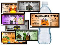 20 HALLOWEEN PARTY FAVORS WATER BOTTLE LABELS  ~ GLOSSY ~ WA