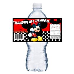 20 MICKEY MOUSE PERSONALIZED BIRTHDAY PARTY FAVORS ~ WATER B