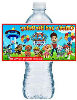 20 ~ PAW PATROL BIRTHDAY PARTY FAVORS WATER BOTTLE LABELS ~