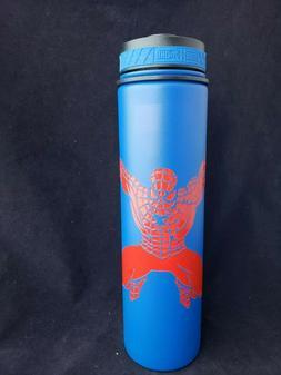 20oz Spiderman Custom Etched Flask Water Bottle