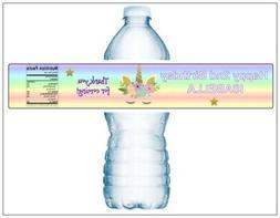 21 UNICORN WATERPROOF Birthday Water Bottle Label Personaliz