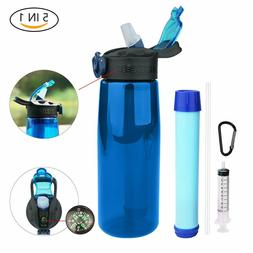 22OZ Water Bottle with Filter Portable Filtered Water Purifi