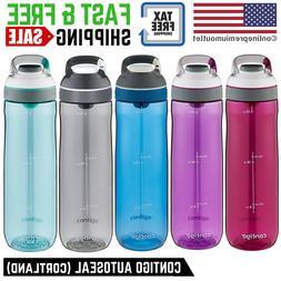 24-oz Contigo AUTOSEAL Water Bottle  Clip On Leak-Proof, 5 C