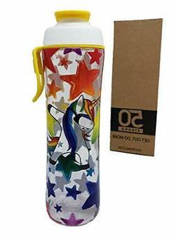 24 oz. Reusable Water Bottle for Girls & Boys - BPA Free - P