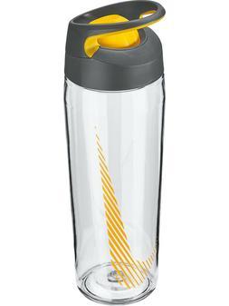 Nike 24oz Flip Top HyperCharge Plastic Water Bottle Clear/Or