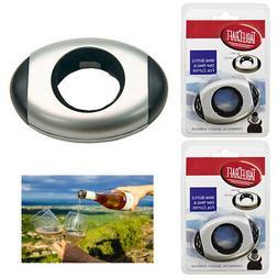 2pc Wine Bottle Collar Drip Ring Cap Drop Proof Foil Cutter