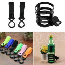 2pcs Stroller Hanger Strap Clip Kids Bike Pushchair Wheelcha