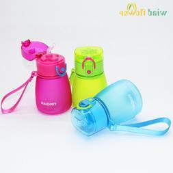 320ml Kids Pipette Water Bottle Cute With Rope Straw Leak Pr