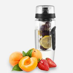 32oz Fruit Infuser Water Bottle  Sport Bottle Flip Top Lid C