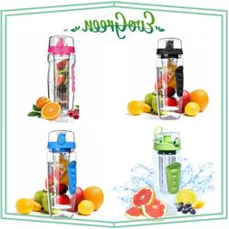 EvoGreen 32oz Fruit Infuser Water Bottle, BPA Free