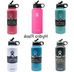 32OZ-Hydro Flask Straw Lid Water Bottle-Stainless Steel & Va