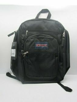 JanSport 34L Big Student Black Backpack 4 Compartment with B