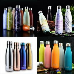350/750/1000ML Water Bottle Vacuum Insulated Thermal Metal S