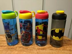 4 NEW Zak boys design water bottle 16 oz BPA free. Batman Sp