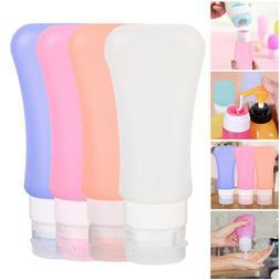 4 Pcs Silicone Bottle Travel Flight Luggage Shampoo Lotion C