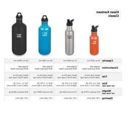 Klean Kanteen 40oz CLASSIC | Stainless Steel Bottle W/ LOOPC