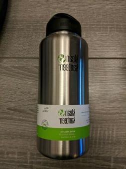 Klean Kanteen 40oz Wide Water Bottle - Brushed Steel - New -