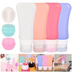 4PCs Silicone Bottle Travel Flight Luggage Shampoo Lotion Co