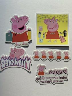 Peppa Pig Sticker Pack VSCO Hydro flask Water Bottle Tumble
