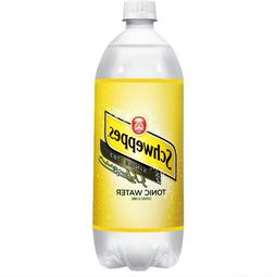 5 Schweppes Tonic Water With Quinine Lot Of 5 - 1 Liter Bott