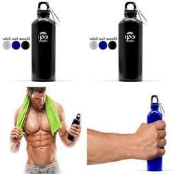 500 Ml 16.9 Fluid OZ Aluminum Water Bottle BLACK 0 FREE SHIP