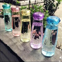620ml Summer Water Bottle Diamond Plastic Sports Drinking Wa