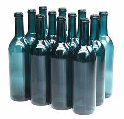 North Mountain Supply 750ml Glass Bordeaux Wine Bottle Flat