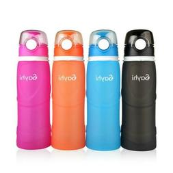 750ml Silicone Collapsible outdoor Bottle Leakproof Lightwei
