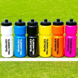 Sports Water Bottles  | BPA Free Plastic Easy Carry Screw To