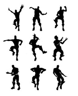 9 X nite xbox dancing men wall stickers SIZE 10CM tall, fort