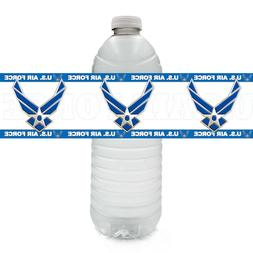 US United States Air Force Party Supplies  WATER BOTTLE LABE