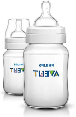 Philips Avent Anti Colic 2 Wide Neck Baby Bottles 9 oz. *