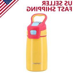TOPOKO Vacuum Stainless Steel Kids Water Bottle AUTO FLIP 12