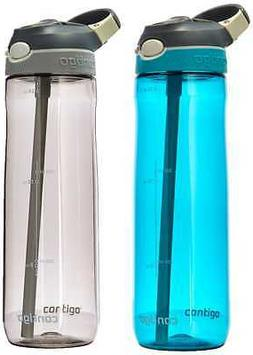 Contigo AUTOSPOUT Straw Ashland Water Bottles, 24 oz, Scuba