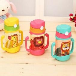 Baby Learning Drinking Water Bottles Feeding Sippy Cups With
