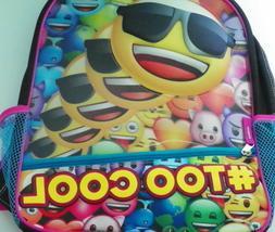 Emoji Backpack With Bottle Holder Boys Girls Back To School