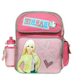 Barbie Small Backpack with Water Bottle/School Book Bag for