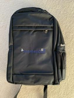 Black Backpack Laptop and Water Bottle Holder Cushioned Stra