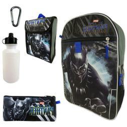 Marvel Black Panther Set Backpack Water Bottle Utility Case